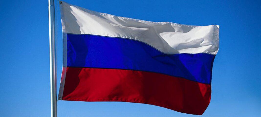 ryssland flagga Ryska ambassaden