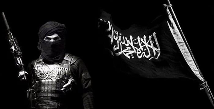 al-qaida flagga under belägring