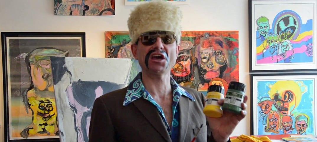 Peter Wahlbeck som Dragan i Bank Für Alle