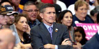 varnar amerikanska folket General Michael Flynn