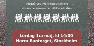 1:a majtåget för Frihet och Sanning Max Winter och Filip Sjöström